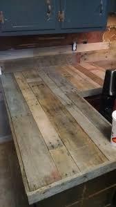 Pallet Countertops & Backsplash