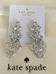 kate spade authentic boathouse crystal chandelier rare drop earrings nwt