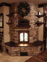 27+ Stunning Fireplace Tile Ideas for your Home. Corner Fireplace DecoratingCorner  Stone ...