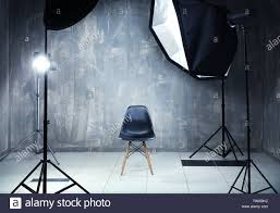Professional Film Lighting Equipment Modern Photo Studio Interior With Professional Lighting