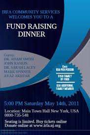 Flyers For Fundraising Events Fundraising Dinner Event Flyer Poster Social Media Template