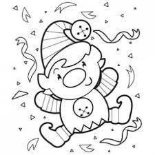 Happy Elf Coloring Page Free Christmas Recipes Coloring Pages For