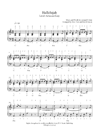 hallelujah piano sheet music hallelujah by jeff buckley piano sheet music advanced level