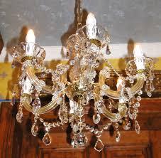 Kristall Kronleuchter Straß Antik Lüster Original Maria