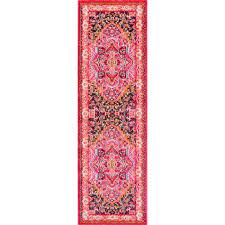 nuloom cor violet pink 3 ft x 12 ft runner rug