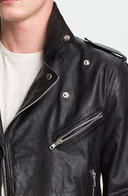 lyst topman leather biker jacket in black for men