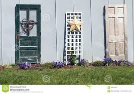 old doors garden decoration stock image image of flora countryside 95251027