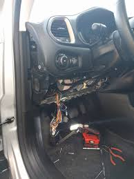 cigarette lighter not working blown fuse jeep renegade forum it will pop out and there s a metal support behind i removed this to make more room as well 3 bolts ignore the wires hanging down they re for an