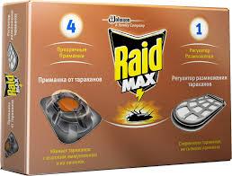 <b>RAID</b>® Max 4 <b>Приманки</b> для <b>тараканов</b> с регулятором размножения