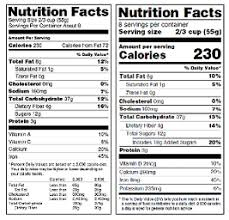 Printable Food Calorie Chart Nutrition Education Resources Materials Fda