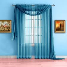 warm home designs standard length turquoise blue sheer window scarf valance scarves are 56 x