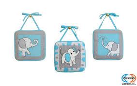 13pcs blue grey elephant baby nursery