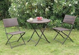 outdoor table get quotations a casual 3 patio outdoor deck garden round table chairs resin