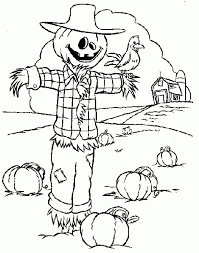 Small Picture Get This Printable Scarecrow Coloring Pages for Kids BKj66