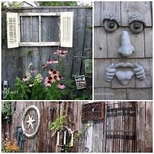 25 ways to dress up a fence with garden art