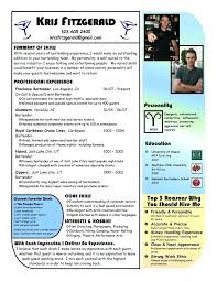 Resume Bartender Server Example Resume Sample Bartender Server
