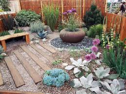 Low Cost Landscape Ideas With Wooden Steps Gravels Dugas Landscape