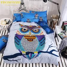 Night Tender owl boys bedding set 4pcs duvet/doona cover bed sheet ... & Night Tender owl boys bedding set 4pcs duvet/doona cover bed sheet pillow  cases queen Adamdwight.com