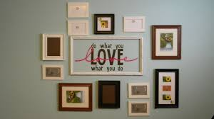 decorations mixed frames on wall with black and white fraame also grey wall paint ideas