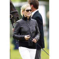 zara phillips black leather jacket womens leather jacket