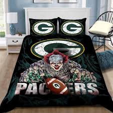 green bay packers logo scary clown