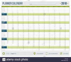Yearly Calendar Planner Template English Calendar Planner For Year 2018 12 Months Corporate Design