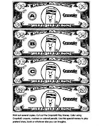 Play Money Coloring Page Crayolacom