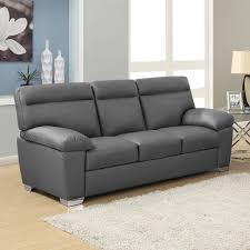 Stylish Sofas Alto Italian Inspired High Back Leather Sofa Collection In Dark Grey