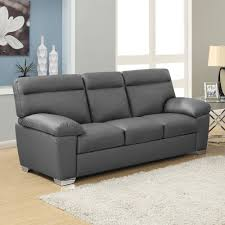 alto 3 seater dark grey leather sofa