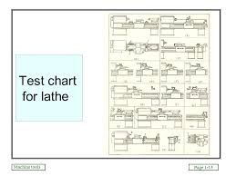 Test Chart For Lathe Machine Machine Tools Page 1 1 Machine Tools Dr M A E Saleh Mech