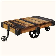 industrial furniture wheels. reclaimed wood pallet industrial coffee table on wheels furniture