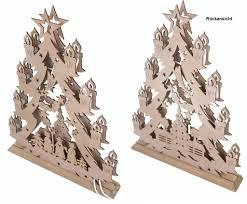 Weihnachts Advent Deko Beleuchtung Holz Tannenbaum Winterland Lampe Fensterdeko Tischdeko 3490070c Typ C