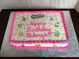 Shopkins Sheet Cake Birthday Cake My Cakes In 2019 Shopkins