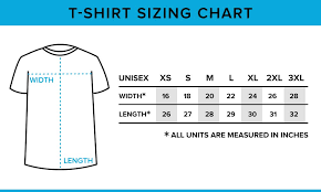 Loot Wear Size Chart Sizing Charts Loot Crate Help Center