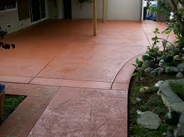 stained stamped concrete patio. Stained Garage Floor Stamped Concrete Patio N