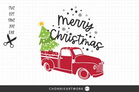 Freesvg.org offers free vector images in svg format with creative commons 0 license (public domain). Christmas Truck With Tree Graphic By Chonnieartwork Creative Fabrica
