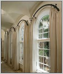 amazing curtains what size curtain rod do i need ideas diy bay window window curtain rods plan