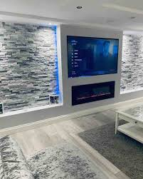 wall mounted electric fire and wall hung tv