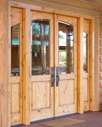 knotty pine entry door with sidelights solid wood