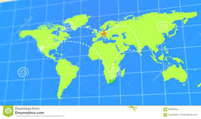 Animated Travel Map Animated Travel And Business Trip Infographic On Planet