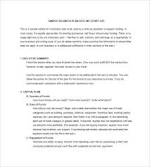 Executive Summary Outline Typical Business Plan Format Executive Summary Example