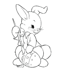 Coloring Pages For Easter Bunny Lapavoni