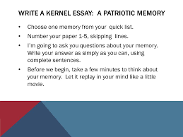 veterans of foreign wars and northwood th grade ppt write a kernel essay a patriotic memory