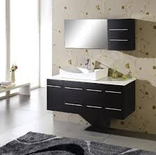 20 Vanity Cabinet Black Syained Wooden Bath Vanity With White Marble Countertop And