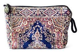 oriental carpet woven cosmetic makeup bag balouchi collection