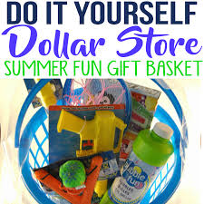 diy dollar outdoor summer fun gift basket