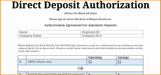 Direct Deposit Template Free 028 Direct Deposit Form Template New Payroll Of