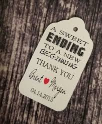 thank you tags for wedding favors sweet ending to a new beginning thank you favor tag medium