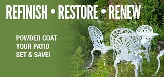 outdoor furniture restoration. Refinish Restore Renew - Powder Coat Your Patio Furniture And Save Outdoor Restoration S