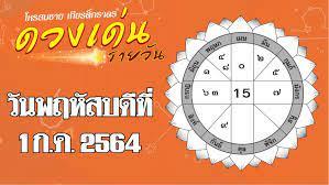 ดวงเด่นรายวัน โหรสมชาย เกียรติ์ภราดรวันพฤหัสบดีที่ 1 กรกฎาคม พ.ศ. 2564